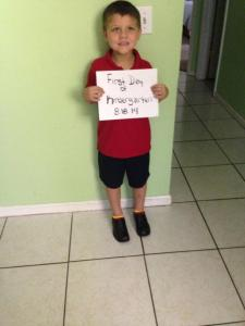 Mathew's First Day of Kindergarten 8.18.14
